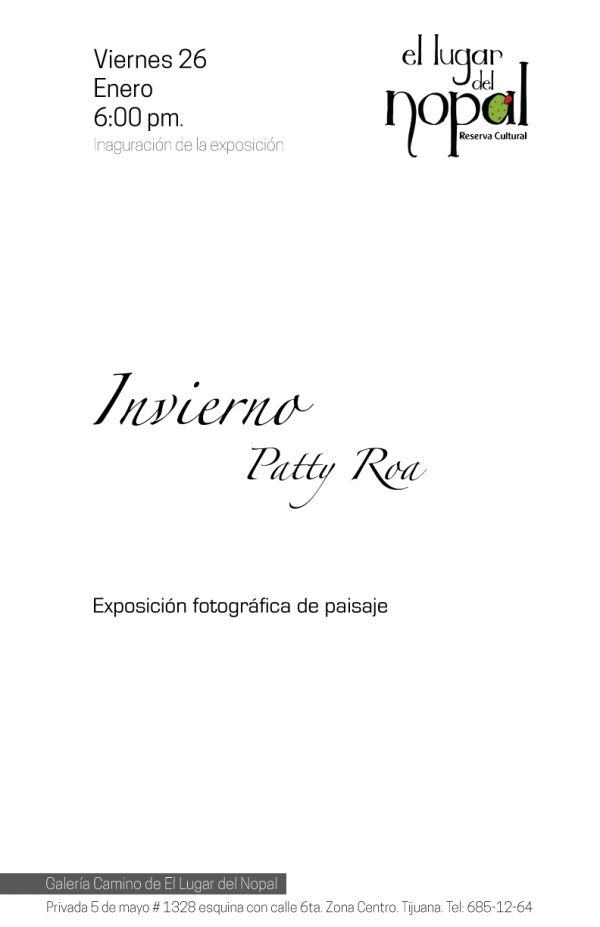 "Expo ""Invierno"" de Patty Roa"